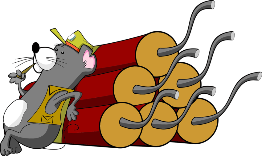 Animal Cartoon Dig Dynamite  - OpenClipart-Vectors / Pixabay