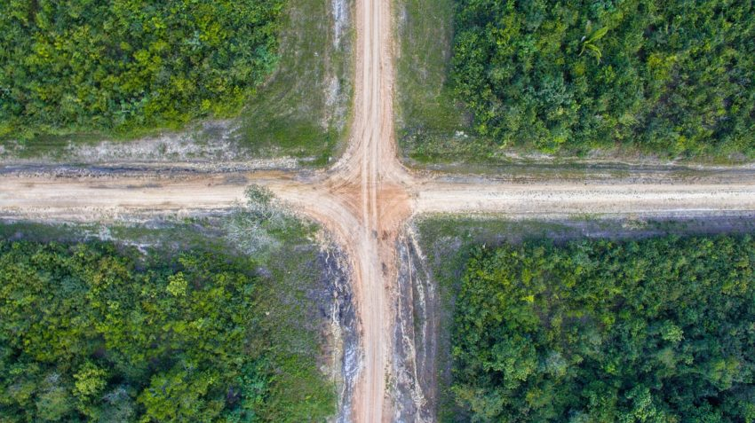 Road Cross Crossroad Drone  - ElyPenner / Pixabay